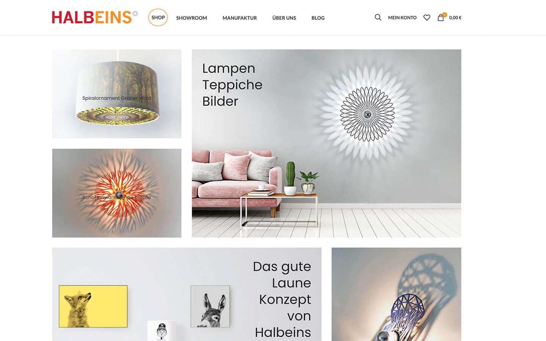 Halbeins Köln - Onlineshop